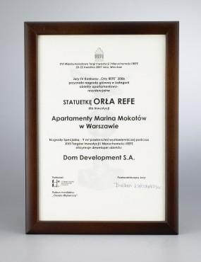 Nagroda ORZEŁ REFE 2006