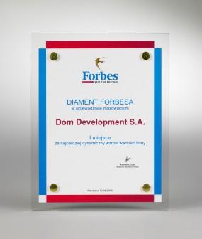 Nagroda DIAMENT FORBESA w województwie mazowieckim (2007) - ZA DYNAMICZNY WZROST WARTOŚCI