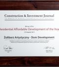 Nagroda Żoliborz Artystyczny - Zwycięzca Residential Affordable Development of the Year (2015)