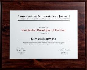 Nagroda Residential Developer of the Year